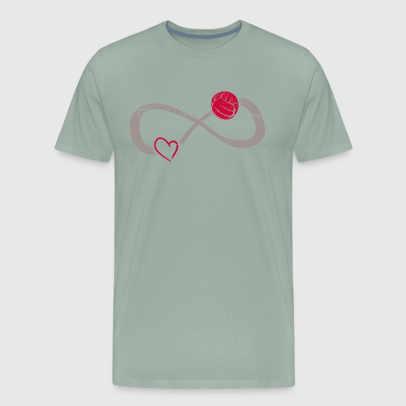 Infinite Love ∞ I Love Volleyball ∞ Smash - Men's Premium T-Shirt