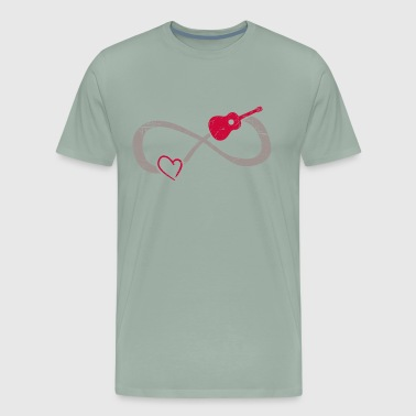 I Love Guitar Infinite Love ∞ I Love Guitar Music ∞ Acoustic - Men's Premium T-Shirt