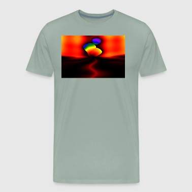 Abstract Genetic Art Fractal - Men's Premium T-Shirt
