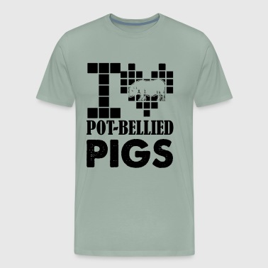 I Love Pot Bellied Pigs Shirt - Men's Premium T-Shirt