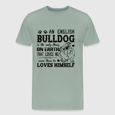 English Bulldog Love Shirt - Men's Premium T-Shirt