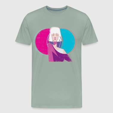 Vaporwave Aesthetic Girl - Men's Premium T-Shirt