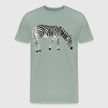 zebra animal zoo pet wilderness safari - Men's Premium T-Shirt