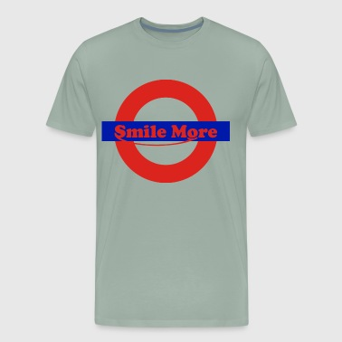 smile more - roman - Men's Premium T-Shirt