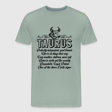 Taurus Facts Things About Taurus Shirt - Men's Premium T-Shirt