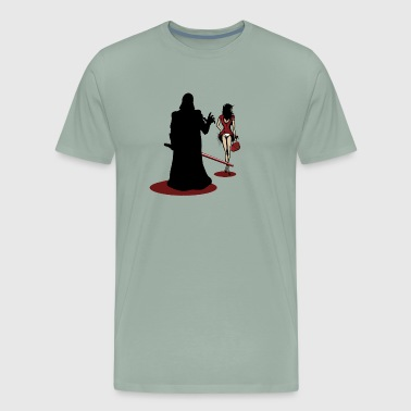 Funny Darth Vader uses the force - Men's Premium T-Shirt