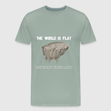 Flat White flat world white - Men's Premium T-Shirt