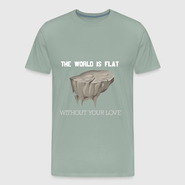 flat world white - Men's Premium T-Shirt