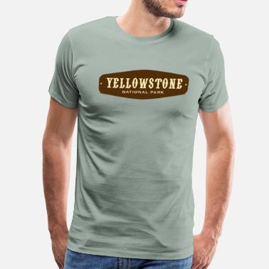 Yellowstone National Park Wyoming Yellowstone National Park - Badge - Men's Premium T-Shirt
