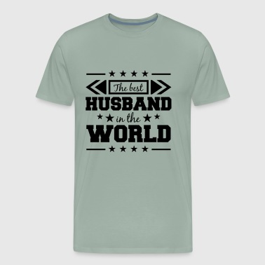 the best world the best world husband husband text - Men's Premium T-Shirt