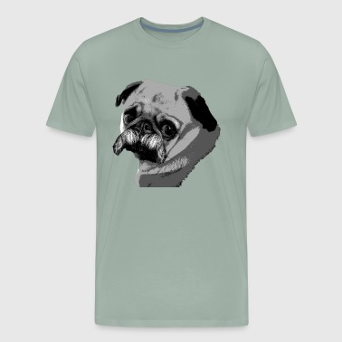 Delightful Funny Pug with a Mustache - Movember - Men's Premium T-Shirt