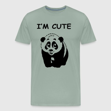 IM CUTE PANDA BEAR - Men's Premium T-Shirt