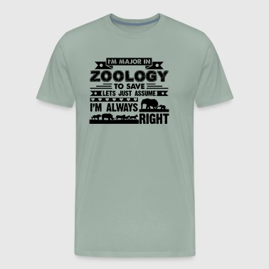 Zoology Shirt - I'm Major In Zoology T shirt - Men's Premium T-Shirt