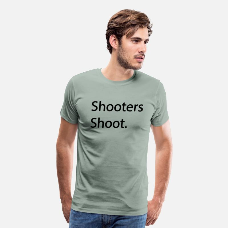 Og T-Shirts - Shooters Shoot OG T-Shirt - Men's Premium T-Shirt steel green