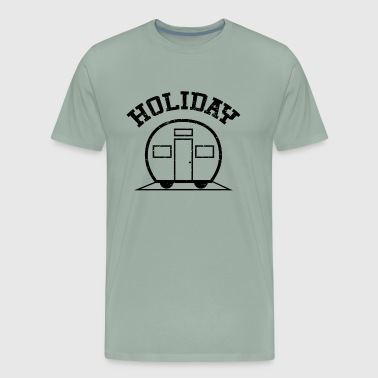Holiday Caravan Blach White - Men's Premium T-Shirt