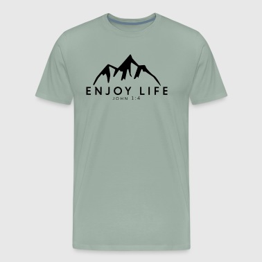 Enjoy Life Mountain - Men's Premium T-Shirt