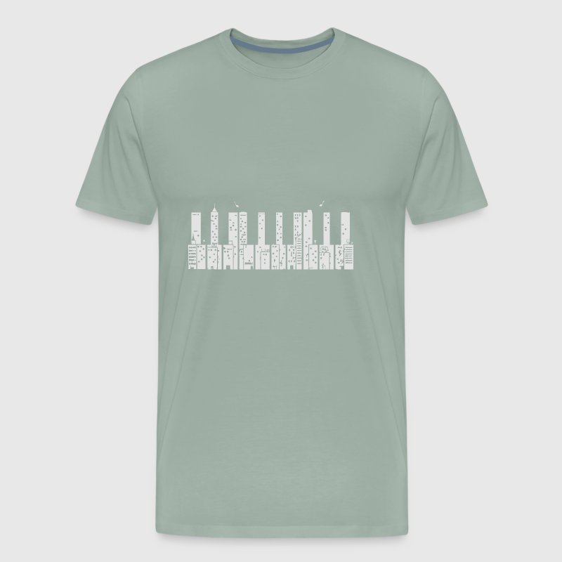 Piano Skyline - Men's Premium T-Shirt
