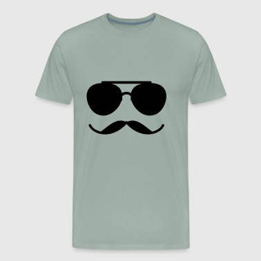 Sunglasses and Mustache - Men's Premium T-Shirt