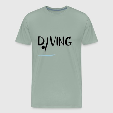 Springboard Diving - Men's Premium T-Shirt