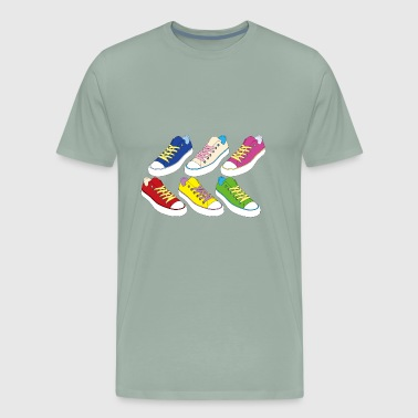 Laces shoes - Men's Premium T-Shirt