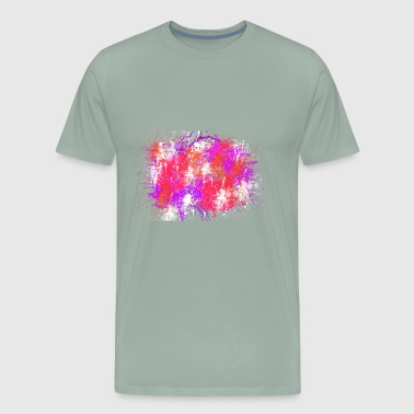 Abstract Painting of love colors - Men's Premium T-Shirt