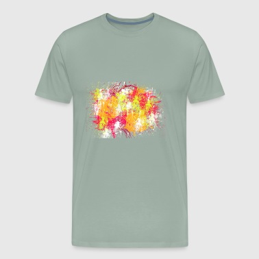 Painting abstract summer colors - Men's Premium T-Shirt