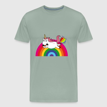 Farting Farting Unicorn Rainbow - Men's Premium T-Shirt