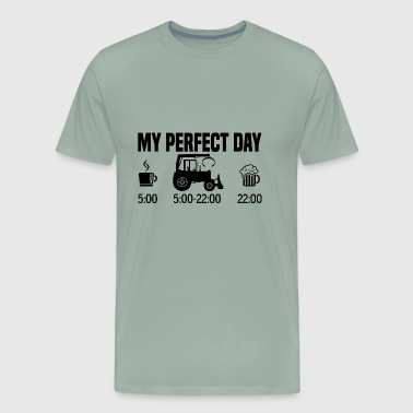 Agricultural My perfect day - Tractor farmer gift - Men's Premium T-Shirt
