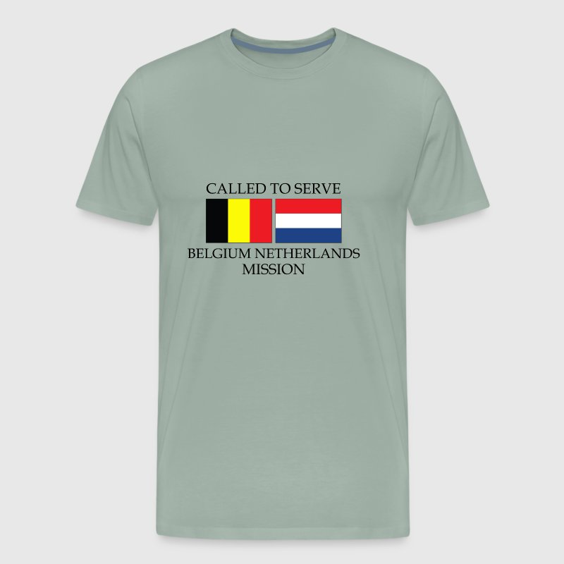 Belgium Netherlands LDS Mission Called to Serve - Men's Premium T-Shirt