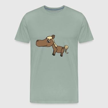 cute baby horse with a blond mane, nice gift idea - Men's Premium T-Shirt