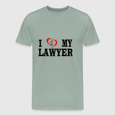 I heart my lawyer - Men's Premium T-Shirt