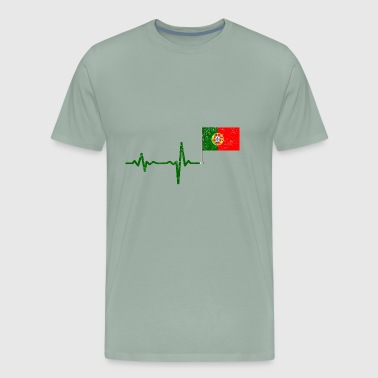 Heartbeat Portugal flag gift - Men's Premium T-Shirt