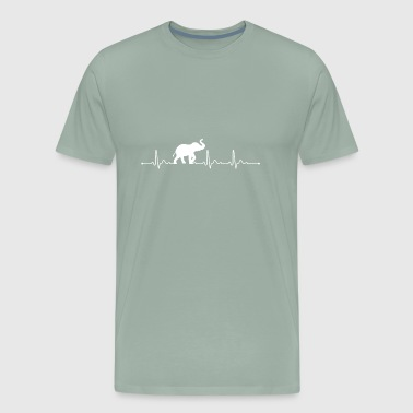 Elephant Heartbeat Heartbeat Elephant T Shirts I Love Elephants - Men's Premium T-Shirt
