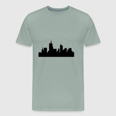Frankfurt skyline Germany - Men's Premium T-Shirt