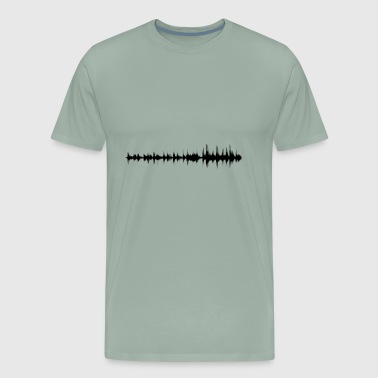 sound wave - Men's Premium T-Shirt