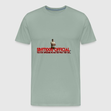 Spongebob971000 Official YouTube Logo - Men's Premium T-Shirt