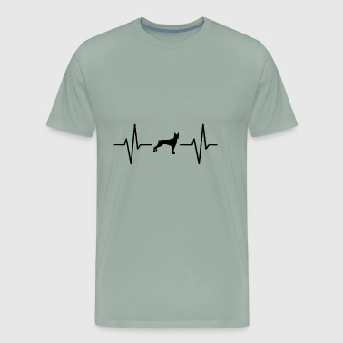 My heart beats for dogs! gift - Men's Premium T-Shirt