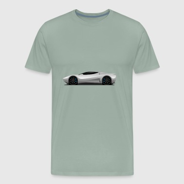 Super Car Vector Illustration - Men's Premium T-Shirt