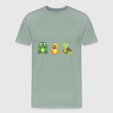 Frog Ducklings Duck Turtle - Men's Premium T-Shirt