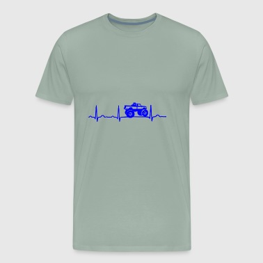 GIFT - ECG RALLY JEEP BLUE - Men's Premium T-Shirt