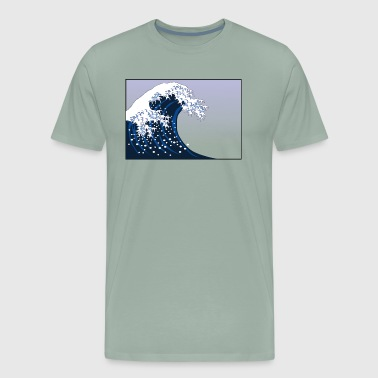 A 21st Century The Great Wave off Kanagawa - Men's Premium T-Shirt