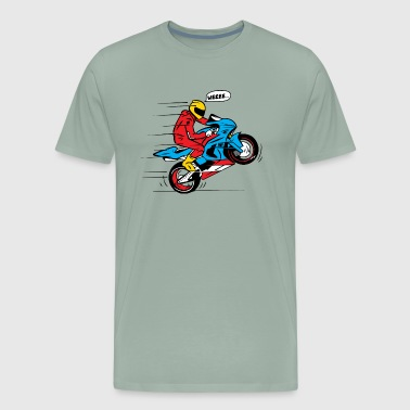 WEEEE WHEELIE MOTO - Men's Premium T-Shirt