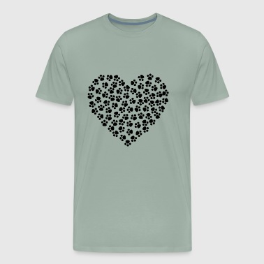 Paws Heart - Men's Premium T-Shirt