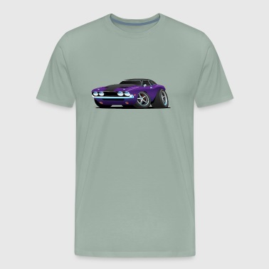 Classic Muscle Car Cartoon - Men's Premium T-Shirt