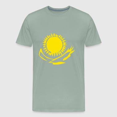 Eagles Under the Sun Abstract - Men's Premium T-Shirt