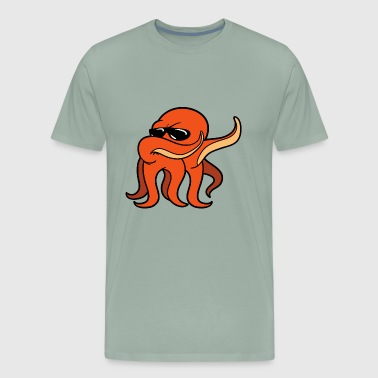 Dabbing Dancing Octopus Giant Kraken Cuttlefish - Men's Premium T-Shirt