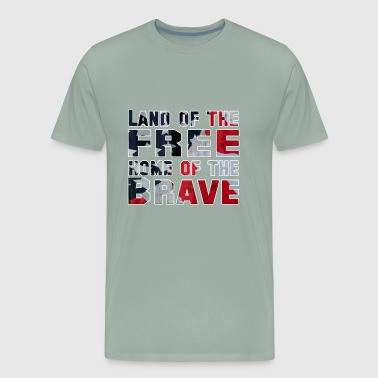 Land of the Free Home of the Brave - Men's Premium T-Shirt