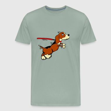 Puppy on a leash - Men's Premium T-Shirt