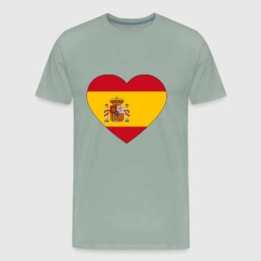 heart spain flag worldchampionship 2018 - Men's Premium T-Shirt