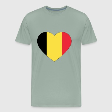 heart belgium flag worldchampionship 2018 - Men's Premium T-Shirt